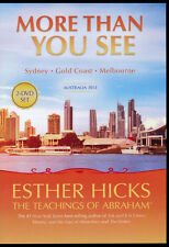 Abraham-Hicks Esther 2 DVD Australia 2013 MORE THAN YOU SEE - NEW