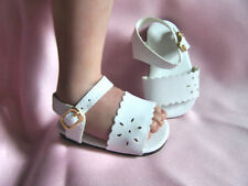 Reborn Doll Shoes 72 mm Summer Floral Sandles  White ~ REBORN DOLL SUPPLIES