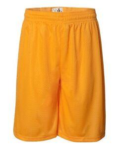 "Badger Sport Mens S-3XL 4XL 5XL 7"" Athletic Pro Mesh Team Basketball Shorts 7207"