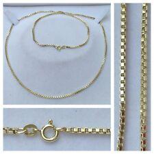 cadena larga 585er Oro Collar Collar de Oro Collar joya de Oro 65cm