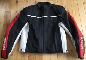 Dainese Leather Motorcycle Jacket Motorbike Protective size 58 Ex-Display