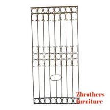 Antique Victorian Iron Gate Window Garden Fence Architectural Salvage Door #381