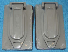 Lot 2 Hubbell-Bell 5146-0 Weather Resistant 1-Gang Vertical Cover Duplex RW51470