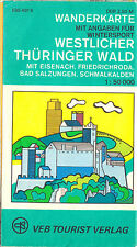 Wanderkarte, Westlicher Thüringer Wald, 1980
