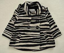 NEXT Jacke Gr 104 110 116 Safari Zebra schwarz Übergang Parka Mantel Zwillinge