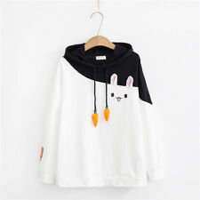 Kawaii Clothing Harajuku Hoodie Sweatshirt Bunny Rabbit Ulzzang Japanese Carrot