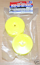 Tamiya 54748 4WD Buggy Front Dish Wheels (Hex Hub, Yellow) (DB01RRR), NIP