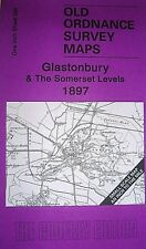 OLD ORDNANCE SURVEY MAP GLASTONBURY SOMERSET LEVELS & MAP EVERCREECH 1897 S 296