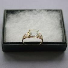 Aquamarine Yellow Gold Emerald Fine Rings