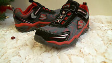 skechers  lights  black & red size 2 KIDS youth CASUAL comfortable