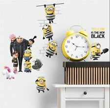 DESPICABLE ME 3 Wall Decals Unicorn Minions Room Decor Sticker Party Decorations