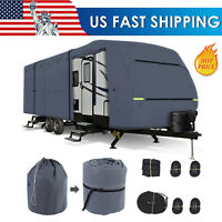 Waterproof Travel Trailer RV Cover For Trailer Camper 27-30FT With Zipper  USA