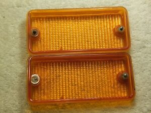 1979-1983 Fiat 124 Spider OEM Front Turn Signal Lenses Only Excellent Condition