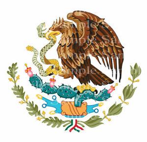 Mexican Flag Eagle Birthday ~ Edible 2D Fondant Cake Cupcake Topper ~ D24172 *