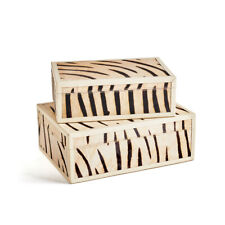 Zebra Wood Boxes (Set Of 2)