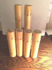 "LOT OF 6 ,Fiber GOLD Drip Candle Cover Chandelier Lamp Socket, Candelabra  4 """