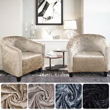 NEW Tub Chair Covers Plush Elastic Velvet Armchair Sofa Cover Seat Slipcovers