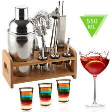 12-tlg Edelstahl Cocktail-Shaker Bar Zubehör Set Barmixer Barset Handshaker LM