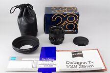 【Mint unused !】Contax Carl Zeiss T* Planar 28mm F/2.8 MMJ  W/Box from Japan 1149