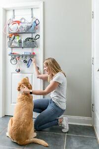 Longstem Pet Organizer Grey- Leash/Collar Toys Treats Cat and Dog Supplies Rack