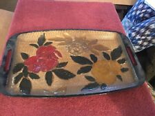 Plastic Serving Tray with Roses