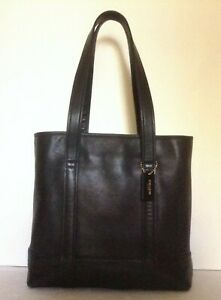 """""""COACH""""carry-all tote purse black genuine superb sturdy black leather MSRP$350.-"""