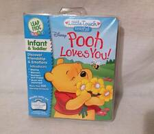 Little Touch LeapPad Leap Frog Disney 'Pooh Loves you' book & Cartridge in case