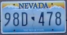 NEVADA Embossed  license plate  98 D - 478