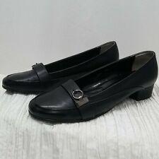 Picaso fashion Italy black leather loafers 10. Euc