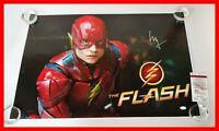 🔥 Ezra Miller Signed Justice League Flash Flashpoint 20X30 Poster JSA PSA WITNS