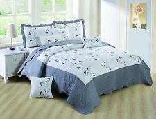 Luxury Grey King Size Bedspread Cotton Filling Comforter Set And Pillow Shams