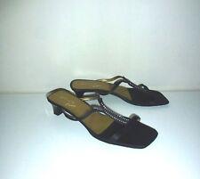 UNISA Black Strappy Diamante Sandals size UK 5.5 / EUR 38