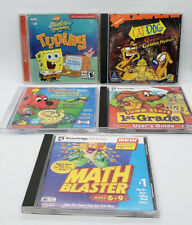 Nickelodeon, Scholastic, Knowledge Adventure Lot of 5 CD Games For Ages 4+