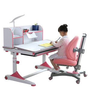 Height Adjustable Table Children Kids ergonomic Office study Desk with Chair set