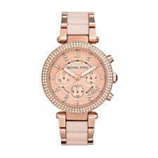 Michael Kors Ladies Parker Two-Tone Rose Gold Chronograph Watch - MK5896 - UK