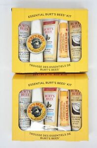 Burt's Bees Essential Kit Travel Size Gift Set 5 Natural Skin Care Pack of 2