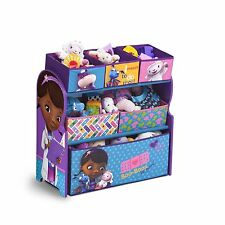 Multi Bin Toy Organizer Storage Box Children Disney Doc McStuffins Kid Furniture