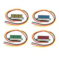 """0.28"""" LED Display DC 0-100V 3 Wires Mini Gauge Voltage Meter Voltmeter Ammeter"""