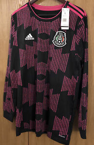 Adidas Mexico 2021 Home Long Sleeve Aeroready Soccer Jersey FT9650 Mens Size L🔥