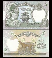 NEPAL 2 Rupees, 1981, P-29, King Birendra, Laxmi, Leopard, UNC World Currency
