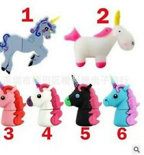 16 Gb Cute Pink White Unicorn Horse Animals Novelty USB Flash Drive Memory Stick