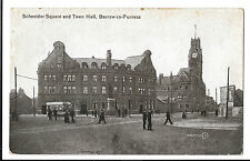 Schneider Square & Town Hall, Barrow in Furness PPC, Tram & Advertising Hoarding