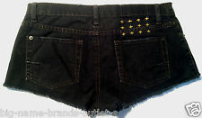 EUC - RRP $240 - Womens Stunning Ksubi 'ALBERCEQUE CUT OFF SHORTS' Black Shorts