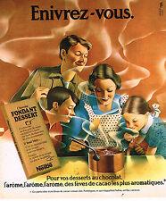 PUBLICITE ADVERTISING 084  1975  NESTLE  chocolat fondant dessert
