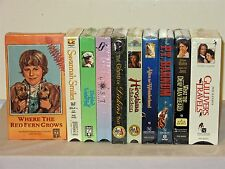 10 New VHS Lot of Children Family Hallmark, Feature Films For Families