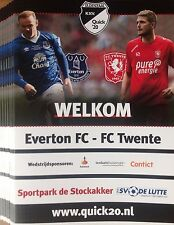 2017 EVERTON v FC TWENTE PRE SEASON FRIENDLY PROGRAMME DE LUTTE THE NETHERLANDS