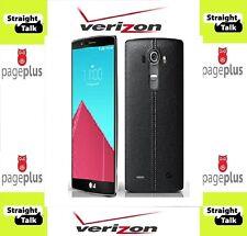 LG G4 VS986 32 GB Black Leather  STRAIGHT TALK Page Plus Verizon 4g LTE