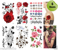 Supperb® 6-pack Mix Flower Temporary Tattoos