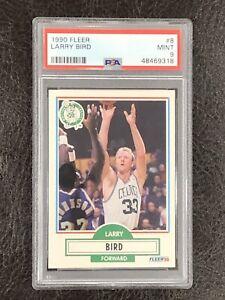 1990-91 Fleer Larry Bird Card #8 PSA 9 MINT! HOF Boston Celtics Legend