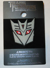 NEW Universal Studios Hasbro Transformers Decepticon Shield LED Logo Trading Pin